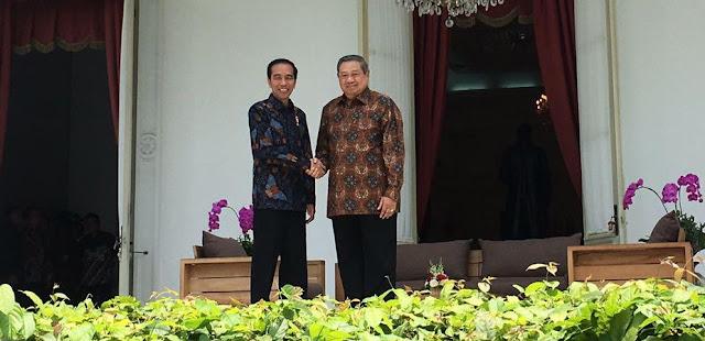 Inilah Potret Pertemuan Jokowi-SBY di Beranda Istana Merdeka