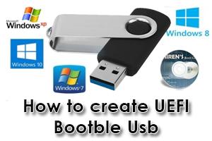 How to create UEFI Bootable Usb