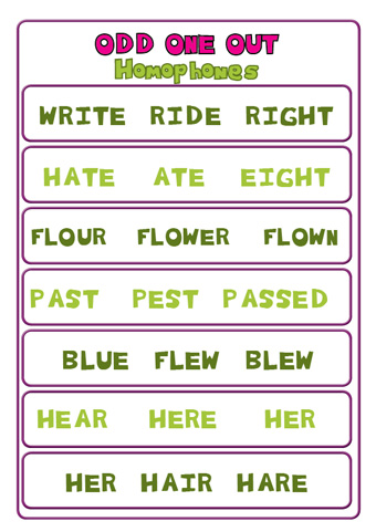 Miss Lucy S Teaching Fun Free Downloadable Odd One Out