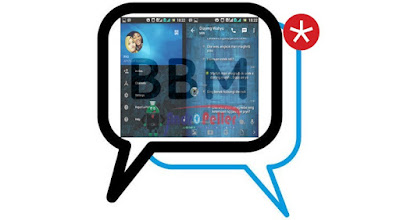 BBM Mod Blue Textured v2.13.1.14 Apk Terbaru