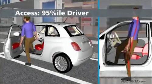 Fiat 500 Driver Access