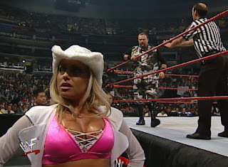 WWF Backlash 2000 - Bubba Ray Dudley glares at Trish Stratus
