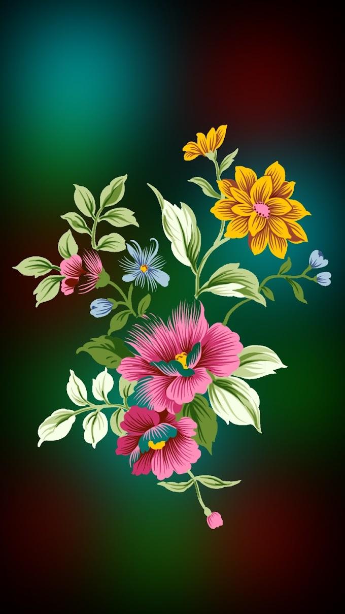 Celular Imagem Flores Coloridas