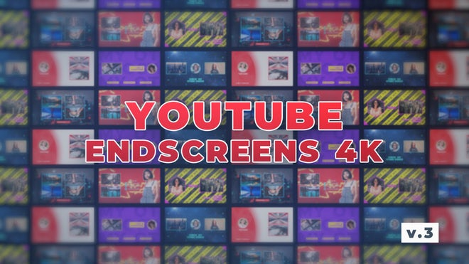 YouTube EndScreens 4K v 3 : After Effects Template