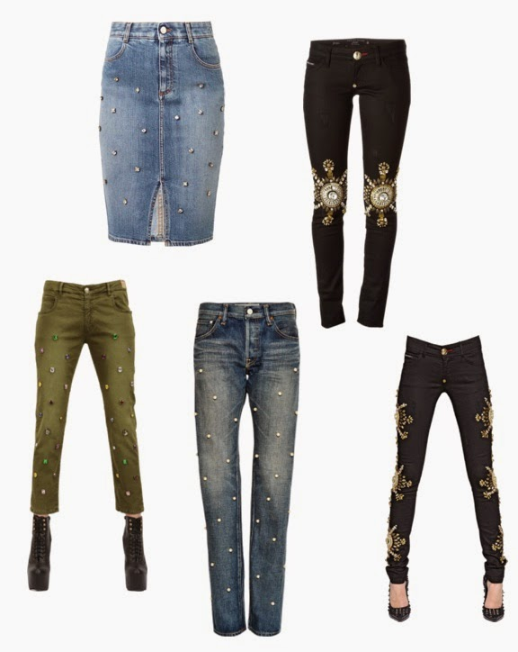 roundups of embelished jeans