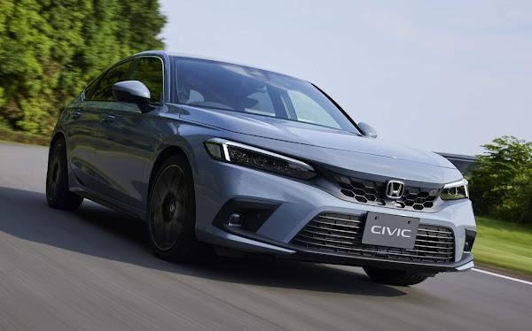 Novo Civic Hatch 2022: para a Europa apenas híbrido e automático