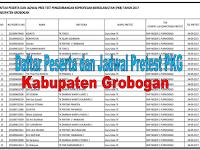 Daftar Peserta dan Jadwal Pretest PKB Tahun 2017 Kabupaten Grobogan