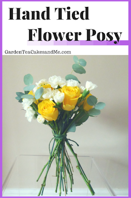 Hand Tied Flower Posy FlowerStart Flower arrangement idea.