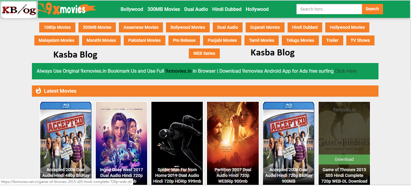 9xmovies | 9xmovie 9xmovies.in 2019 Bollywood Movies Hindi Dubbed Tamil Telugu Movies Download - Kasba Blog