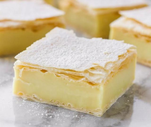 Vanilla Custard Slice #delicious #desserts