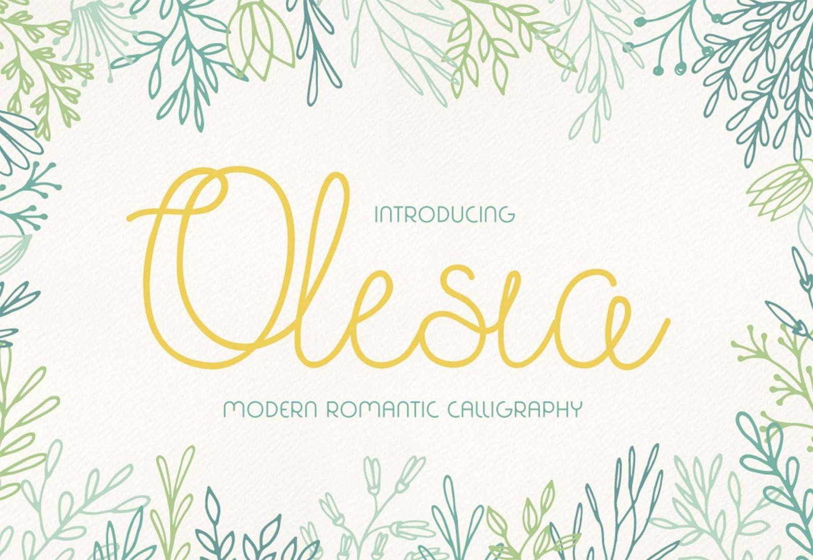Font Edisi September - Olesia Font