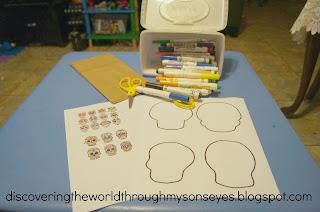 A template for a calavera makes an easy craft.