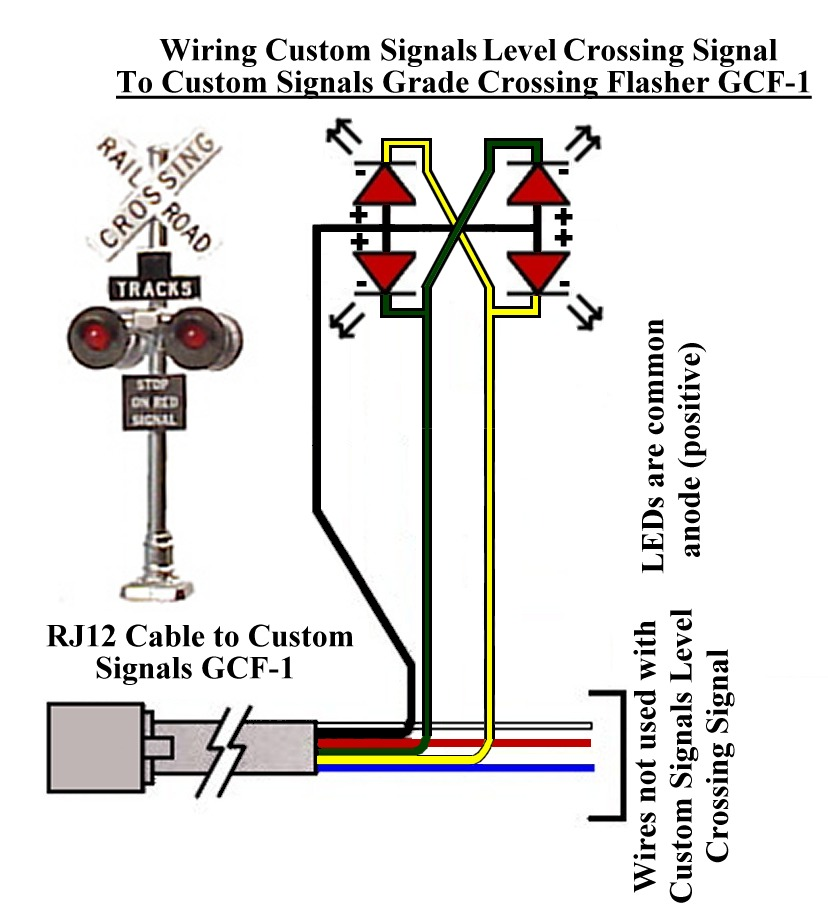Rj12 Wiring Diagram Simple For Fog Lights Railway Bob's Module Building Tips: Grade Crossing Signals Ho & N-scale