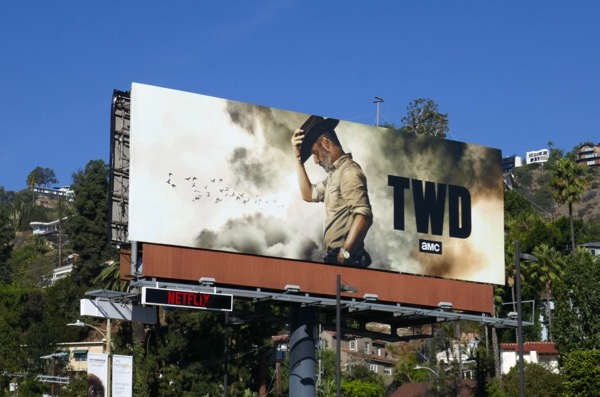 Walking Dead s9 Rick Grimes final episode billboard