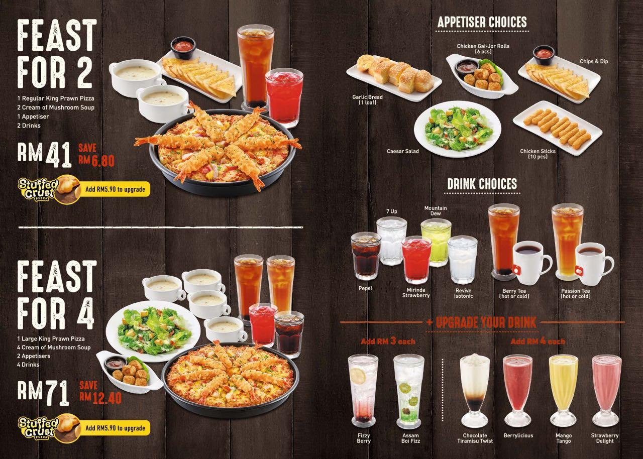 Pizza Hut Large Pizza Size >> Kuching Food Critics: Pizza Hut King Prawn Pizza