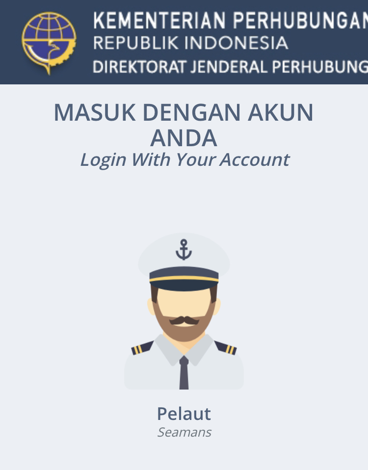 Lupa Username Pasword dan Email Buku Pelaut Online