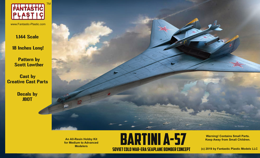 Kampfgruppe 1/144: 1/144 Bartini A-57 Bomber Soviet Seaplane Concept
