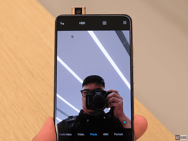 Front-facing pop-up camera