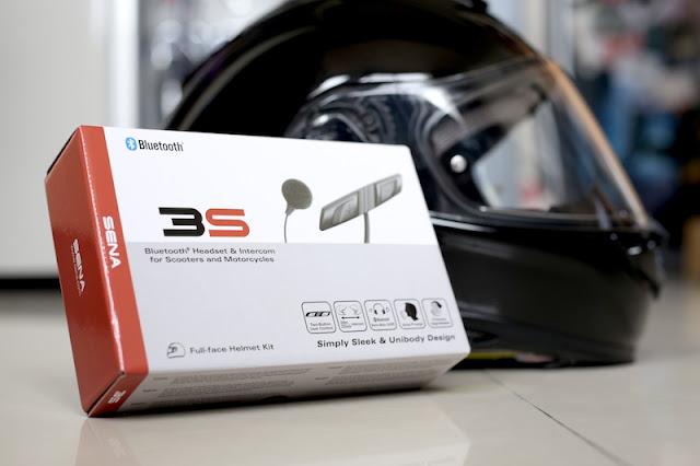 SENA 3S 重機機車用安全帽藍牙耳機隱藏式主機設計