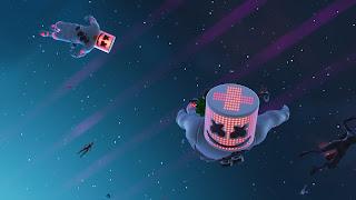 Marshmello art sky fortnite video games emotion