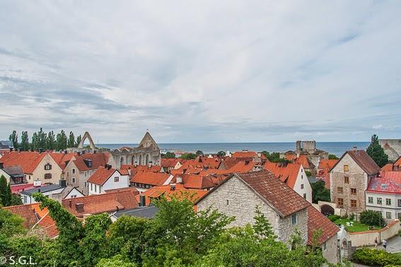 Vista de Visby desde Klinten en Gotland