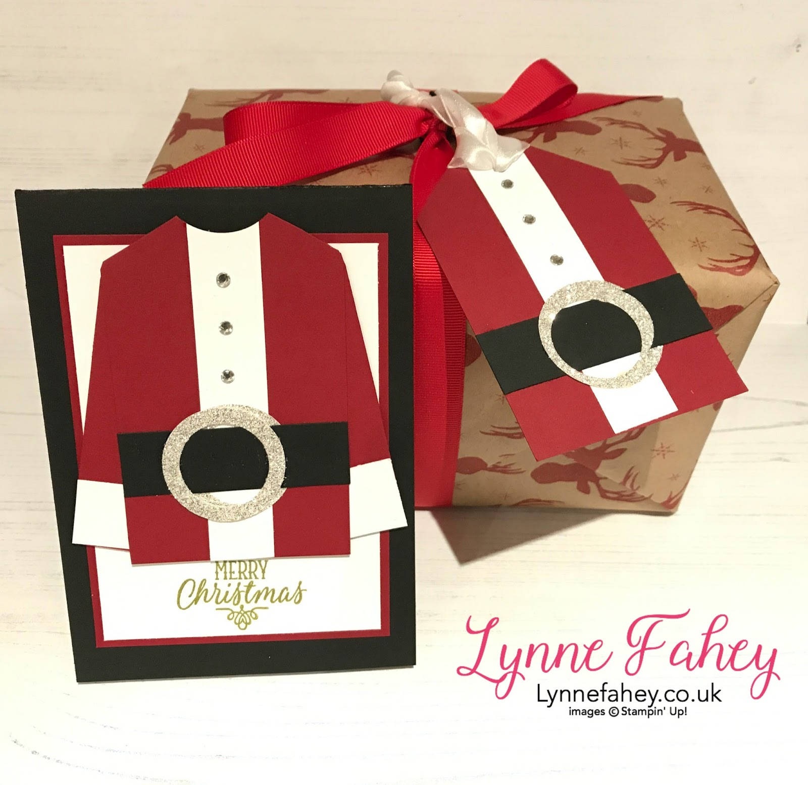 Stampin Up Demonstrator Lynne Fahey Spiralz And Curlz Stampin Up Christmas Card And Gift Tag