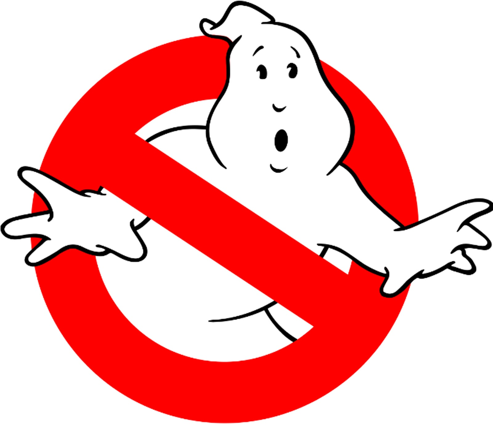 I found this image of the ghostbusters logo on wikipedia but you really could use any image the bolder and less detailed the image the better finished