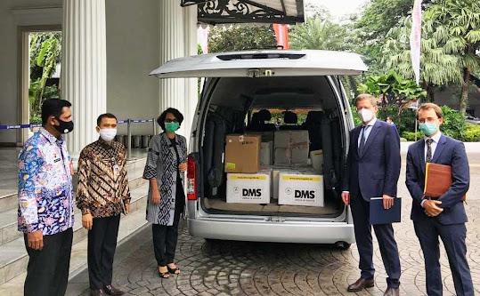 DKI Jakarta Terima Bantuan Perlengkapan Medis dari Berlin