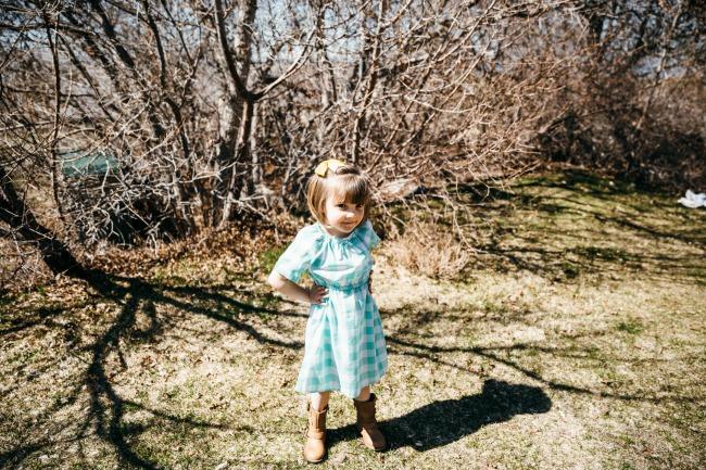 pastel gingham dress for girls