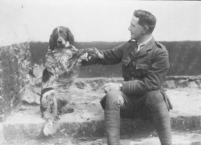Circa 1914 Lieutenant-Colonel John McCrae and his dog Bonneau (Linked)