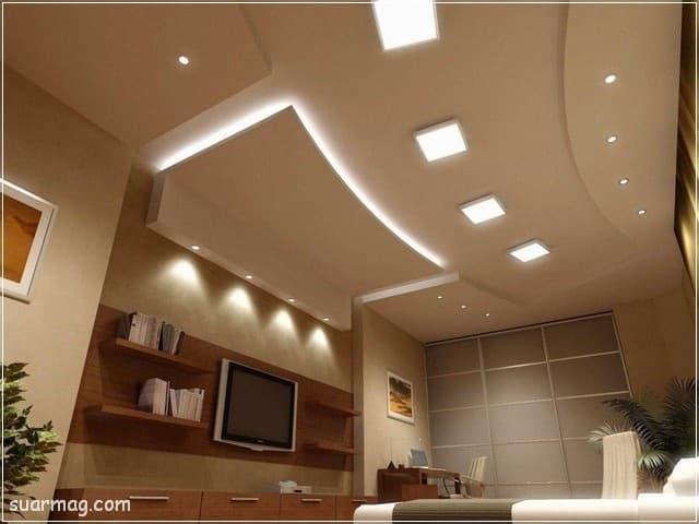 اسقف جبس بورد للصالات مستطيلة 15 | Gypsum Ceiling For Rectangular Halls 15