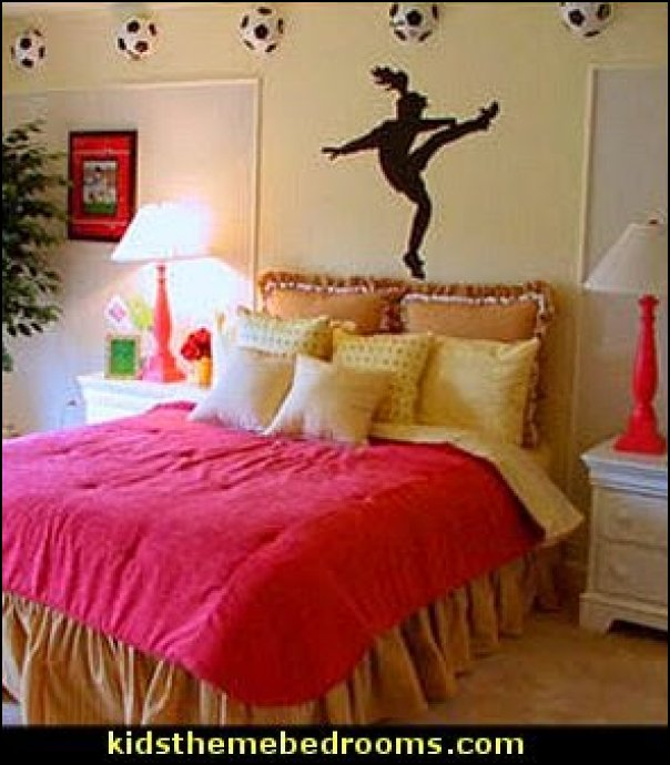 soccer girls room ideas girl soccer decor  girls sports bedroom decorating  soccer decorations football  soccer themed bedrooms for girls