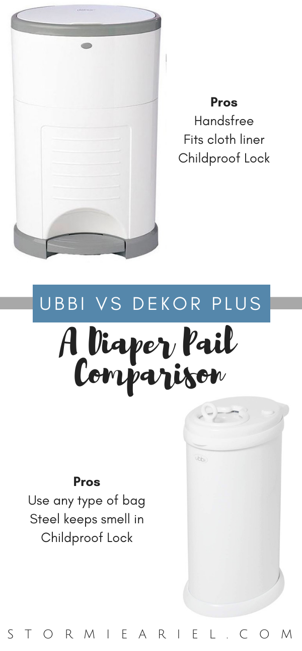 Diaper Pail Comparison | Ubbi vs Dekor Plus