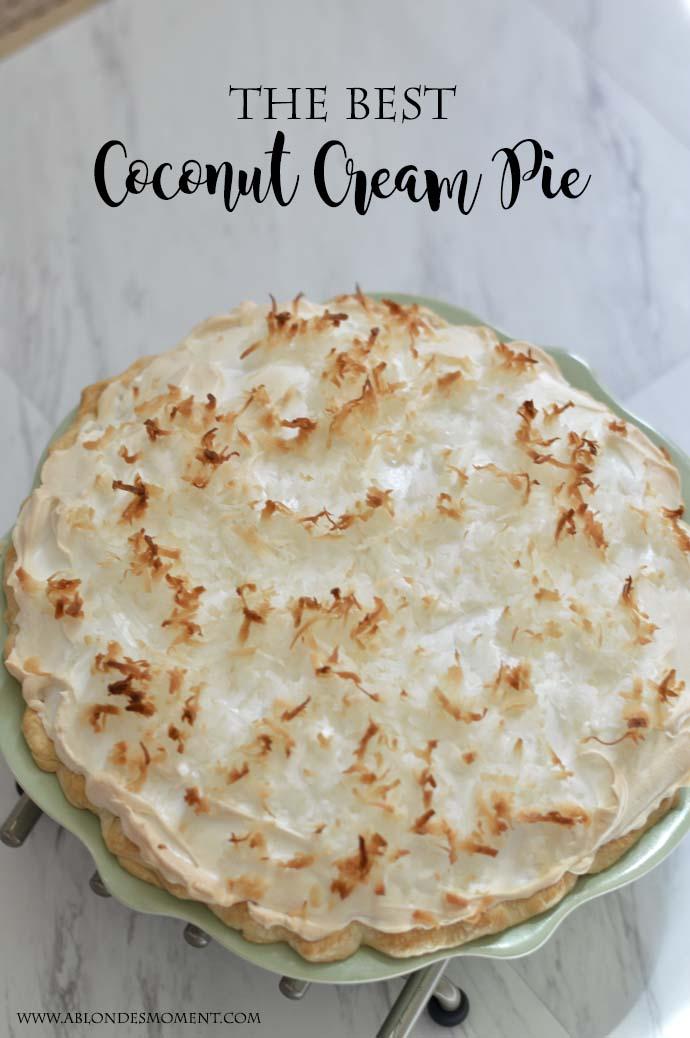Coconut Cream Pie Recipe @rachmccarthy7