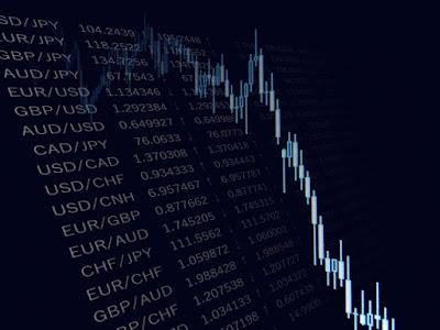 急落する株価チャート