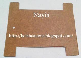 caja de cereal corta con la forma del molde o patron el organizador de cintas