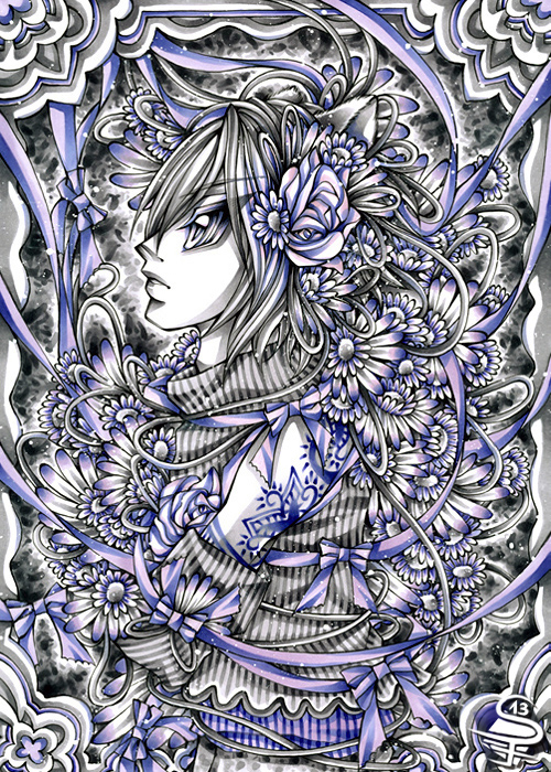 21-Harmonious-Violet-Sandra-Filipova-DarkSena-Manga-Black-and-White-and-Colour-Detailed-Drawings-www-designstack-co