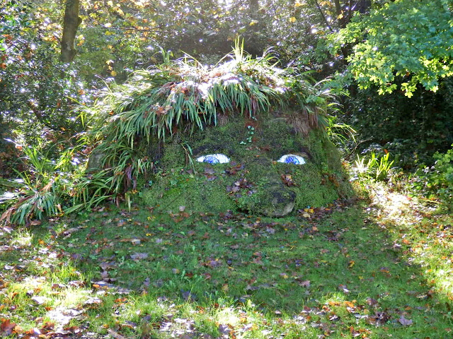 The Giant's Head at Lost Gardens of Heligan, Cornwall