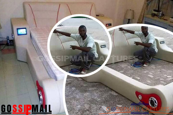 Talented man constructs lovely electronic bed in Ghana (photos)