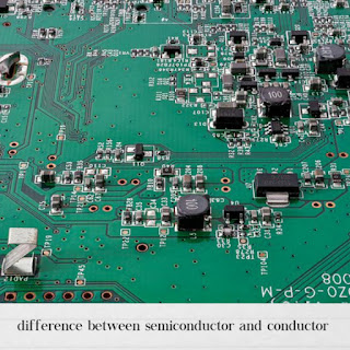 Difference between conductor and semiconductor