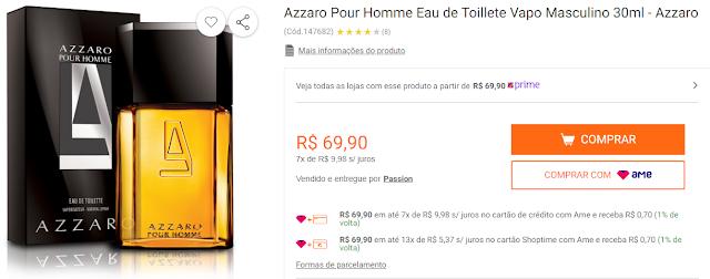 Azzaro Pour Homme Eau de Toillete Vapo Masculino 30ml