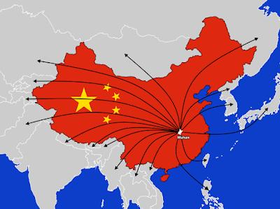 Распространения коронавируса из Китая по всему миру