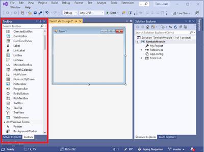 Belajar VB.Net : Mengenal Objek Textbox Pada Toolbox Visual Studio