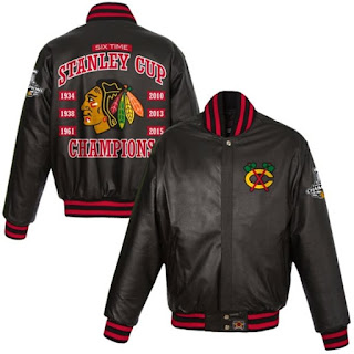 Chicago Blackhawks Six Time Stanley Cup Champions Jacket
