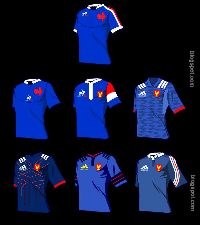 Histoire du maillot de l'équipe de France de rugby
