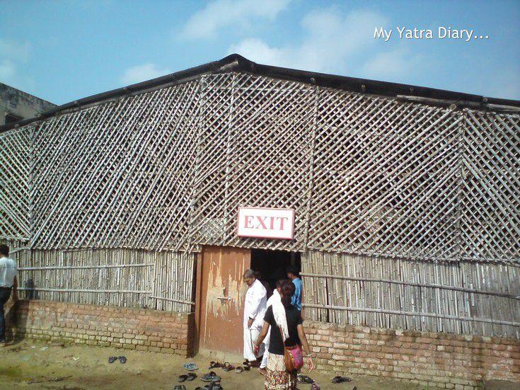 Prasadam hall of ISKCON temple in Vrindavan
