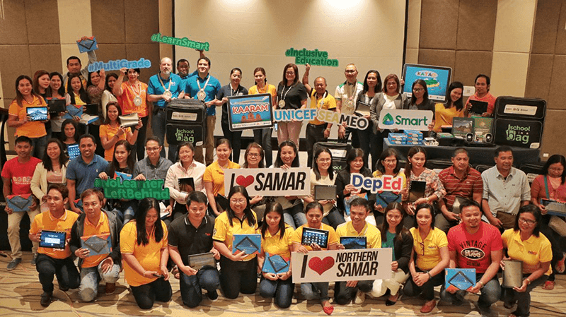 50 schools in Samar and Northern Samar received the SIAB packs