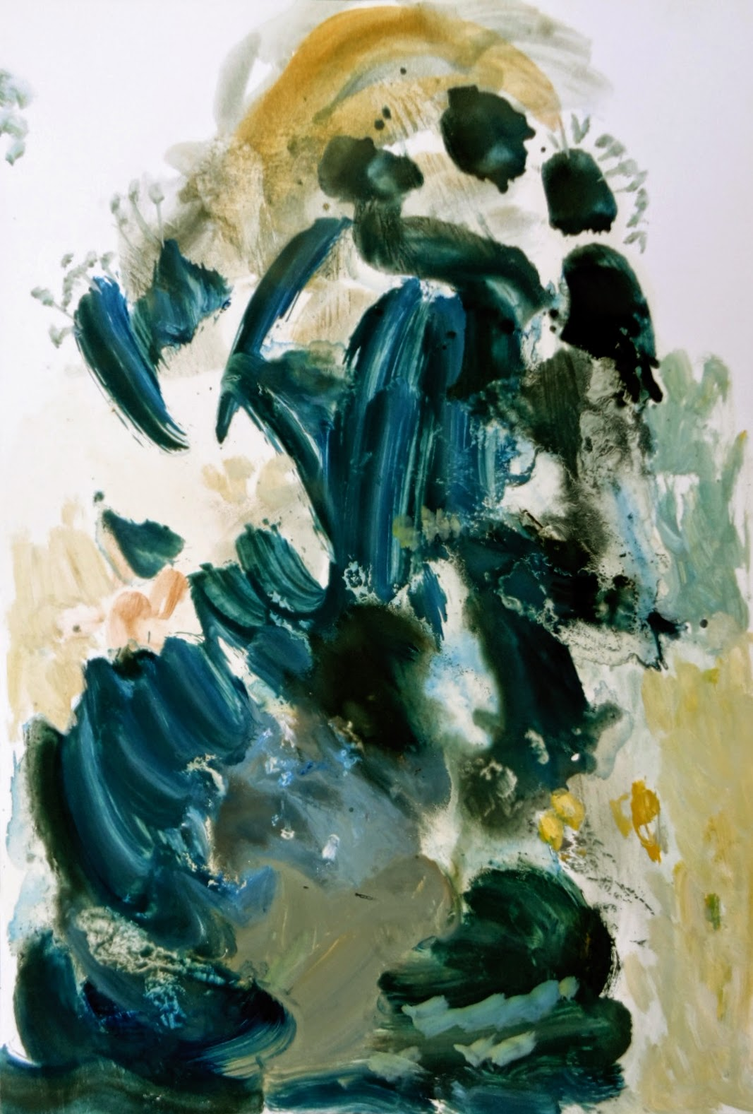 Komposition mit Farbe, Blau und Gelb