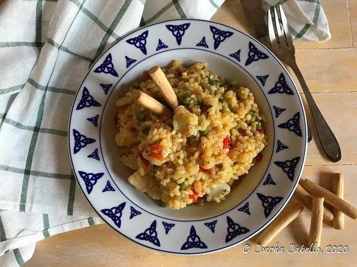 arroz-bacalao-azafrán-mesa