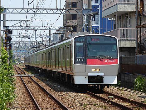 【日中消滅!】快速 海老名行き1 8000系赤塗装8712F(2014.12消滅)